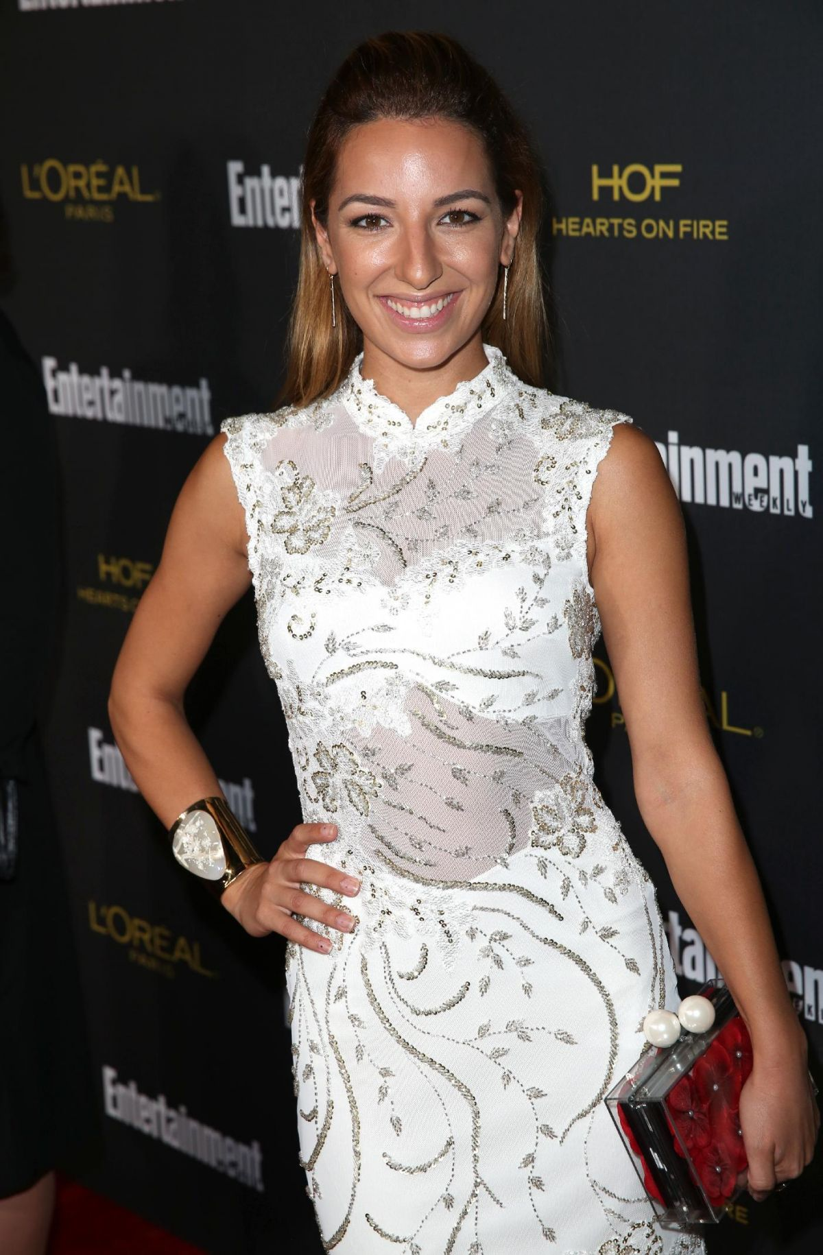 VANESSA LENGIES at Entertainment Weekly's Pre-emmy Party