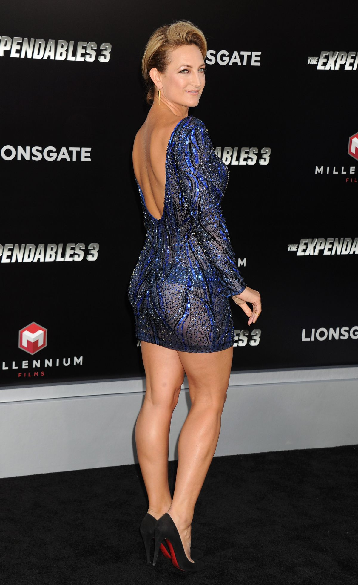 ZOE BELL at The Expendables 3 Premiere in Hollywood