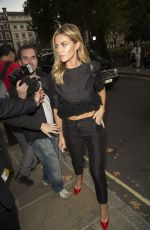 ABIGAIL ABBEY CLANCY at House of Holland Fashion Show in London