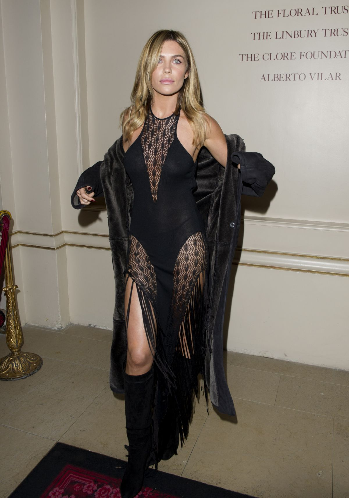 ABIGAIL ABBEY CLANCY at Julien Macdonald Fashion Show in London