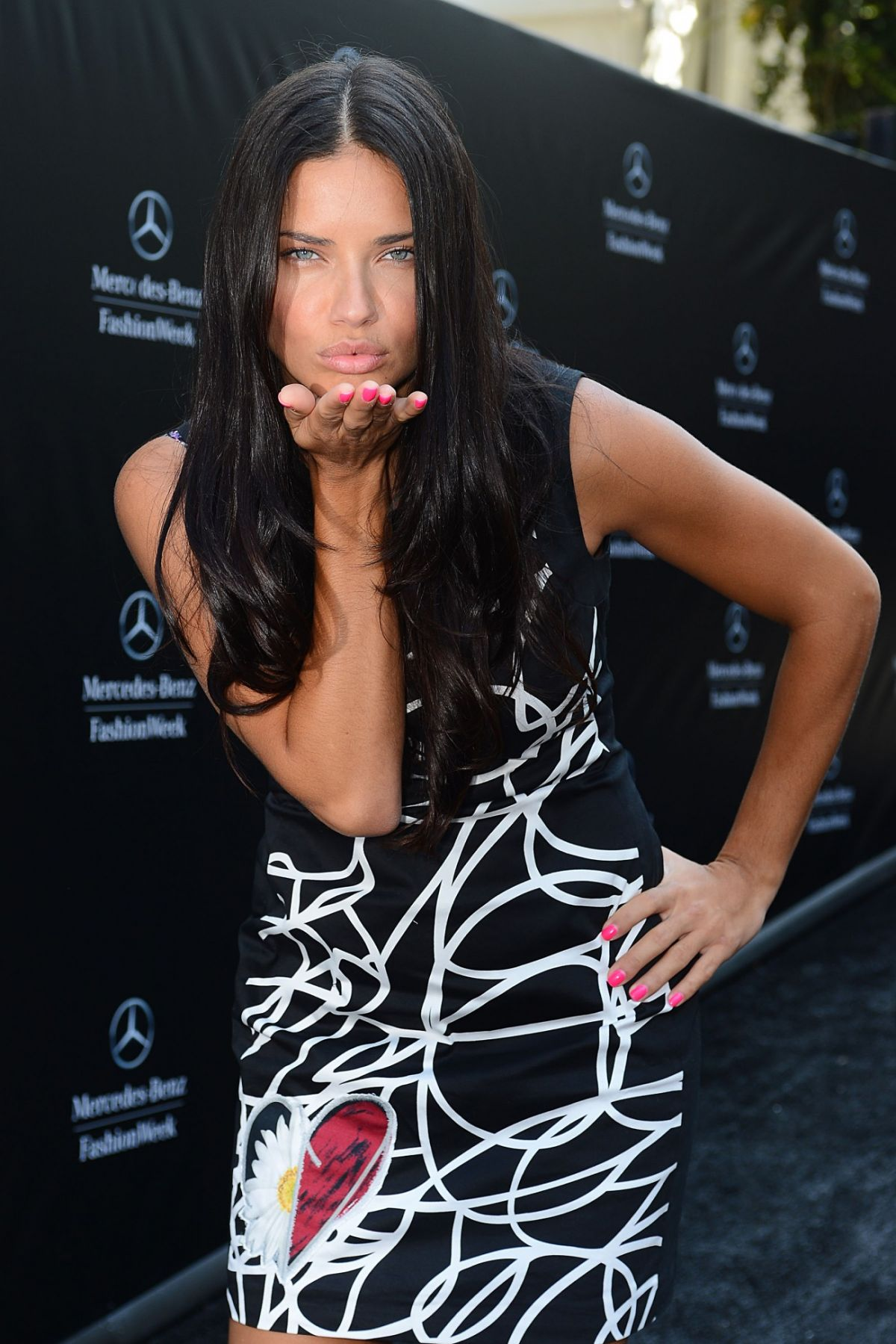 ADRIANA LIMA at Disegual Fashion Show in New York