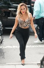 ADRIENNE BAILON on the Set of Real at the Hudson Cafe in New York