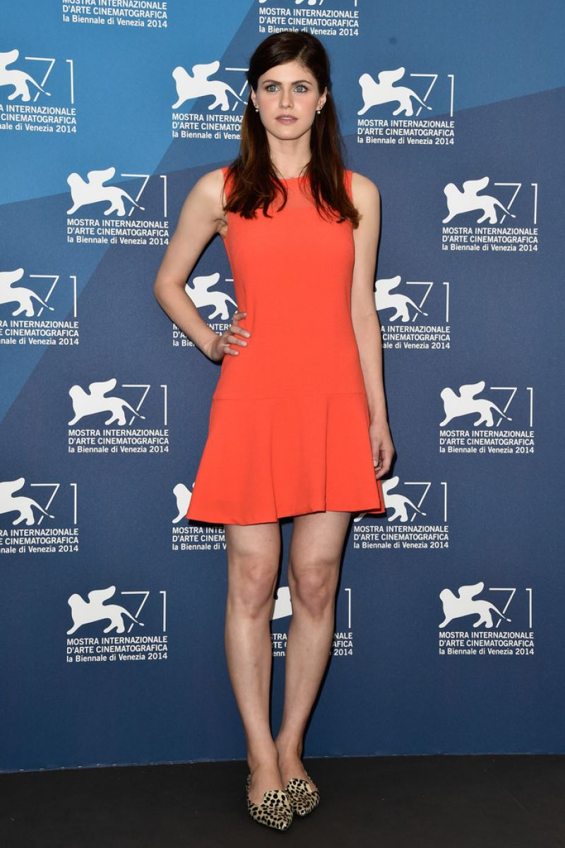 AELXANDRA DADDARIO at Burying the Ex Photocall in Venice