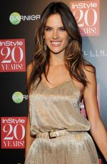 ALESSANDRA AMBROSIO at Instyle 20th Anniversary Party in New York
