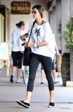 ALESSANDRA AMBROSIO Heading to a Gym in Brentwood