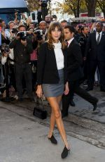 ALEXA CHUNG at Chanel Fashion Show in Paris
