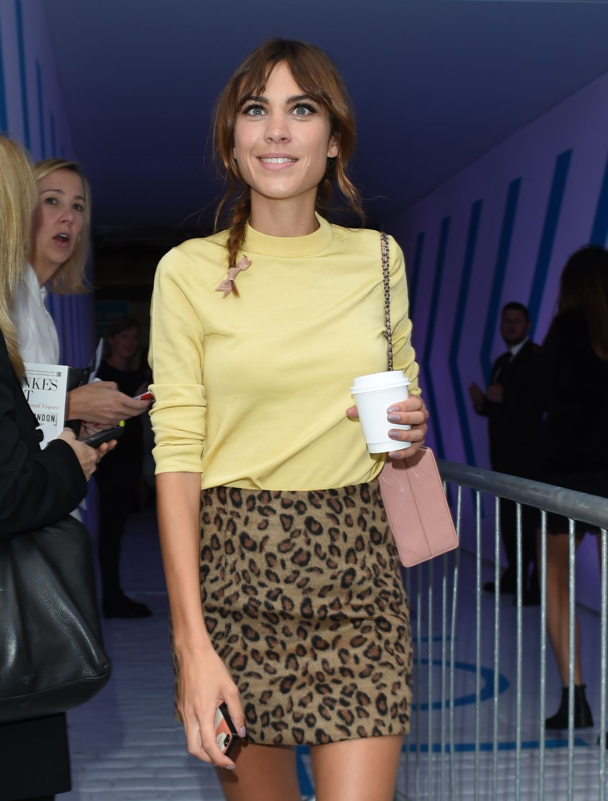ALEXA CHUNG at Topshop Unique Show at London Fashion Week