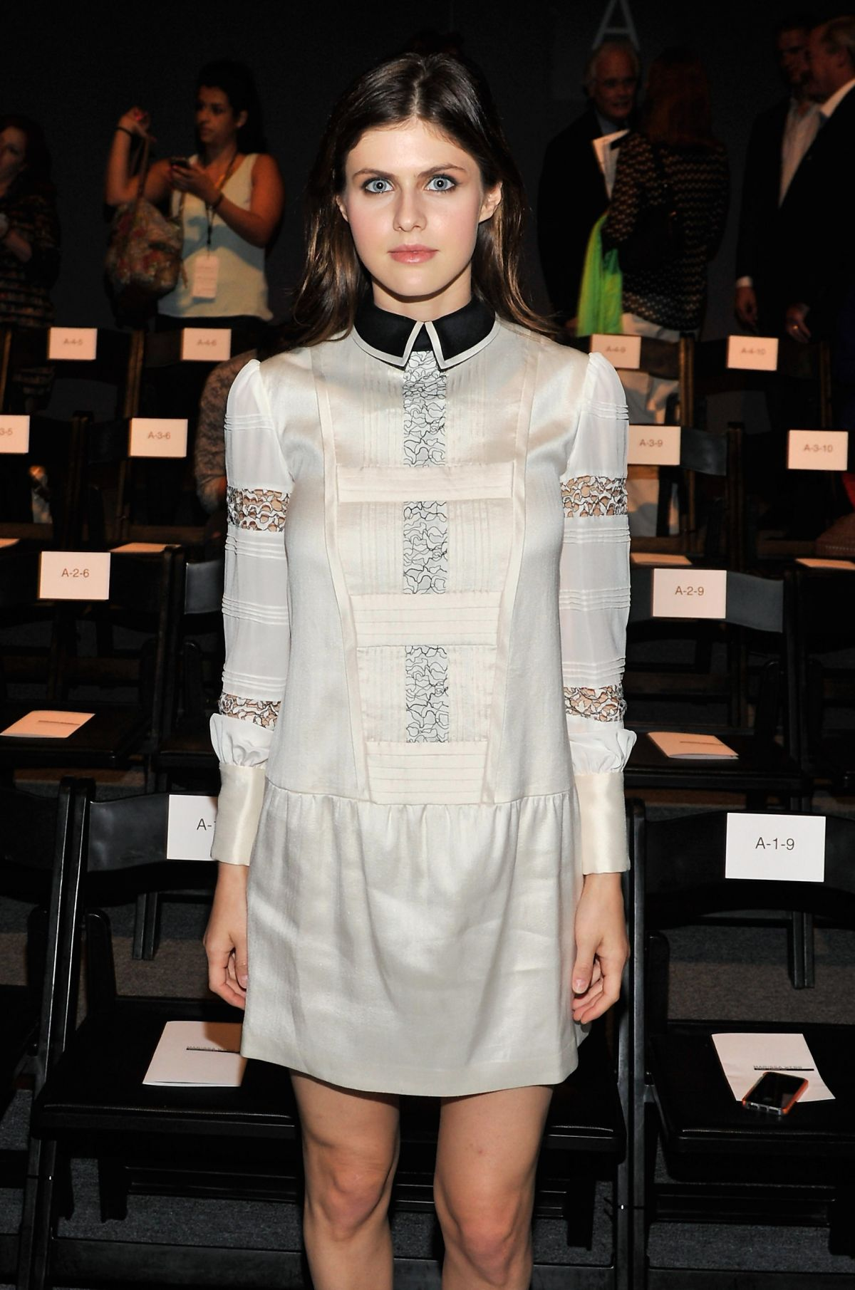 ALEXANDRA DADDARIO at Marissa Webb Fashion Show in New York