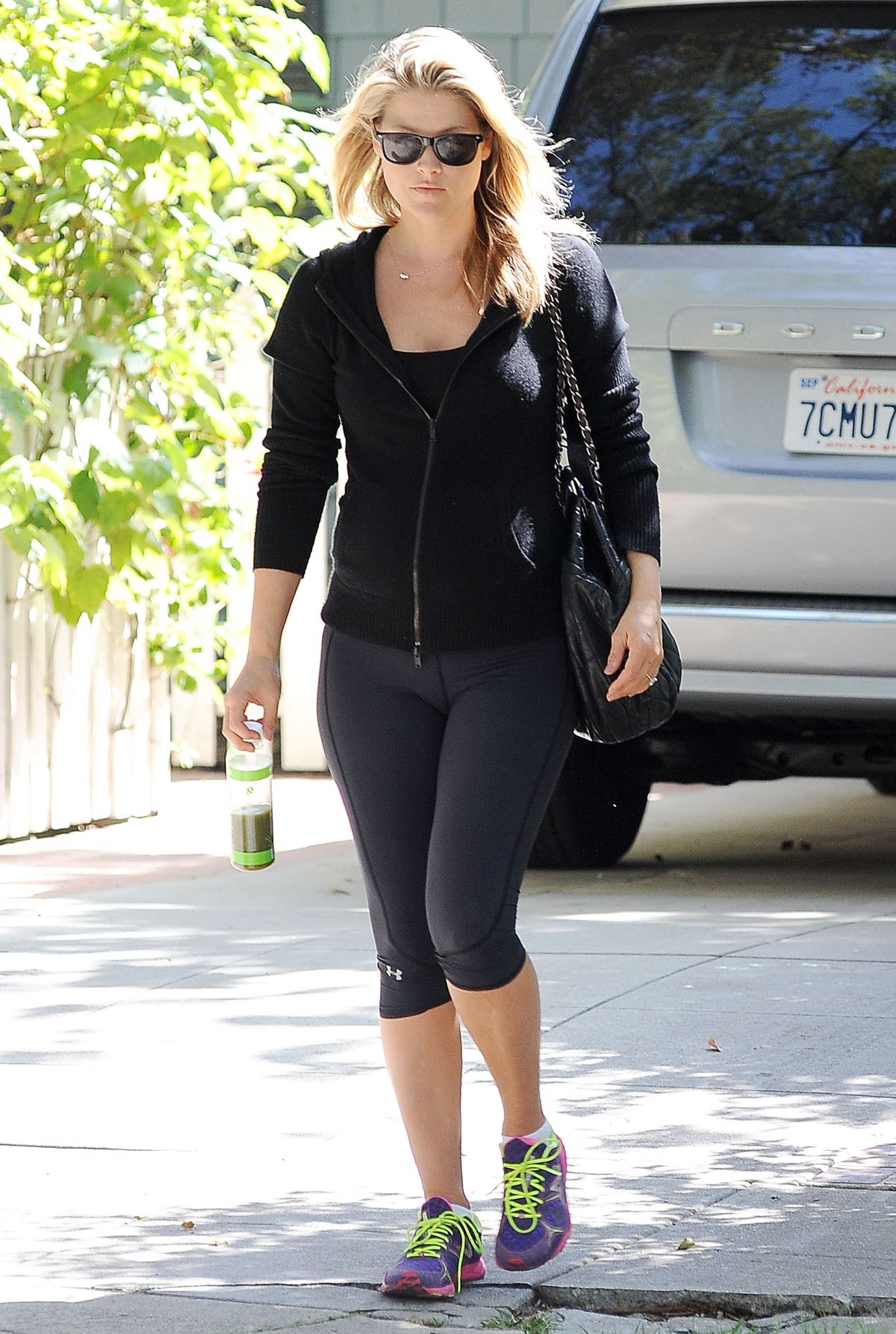 ALI LARTER in Leggings Out in West Hollywood