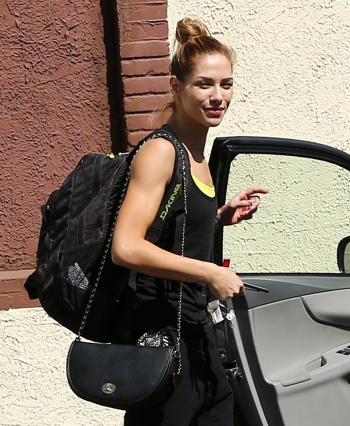 Allison holker leaves dwts rehearsal studio in los angeles
