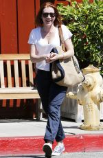 ALYSON HANNIGAN Out and About in Brentwood