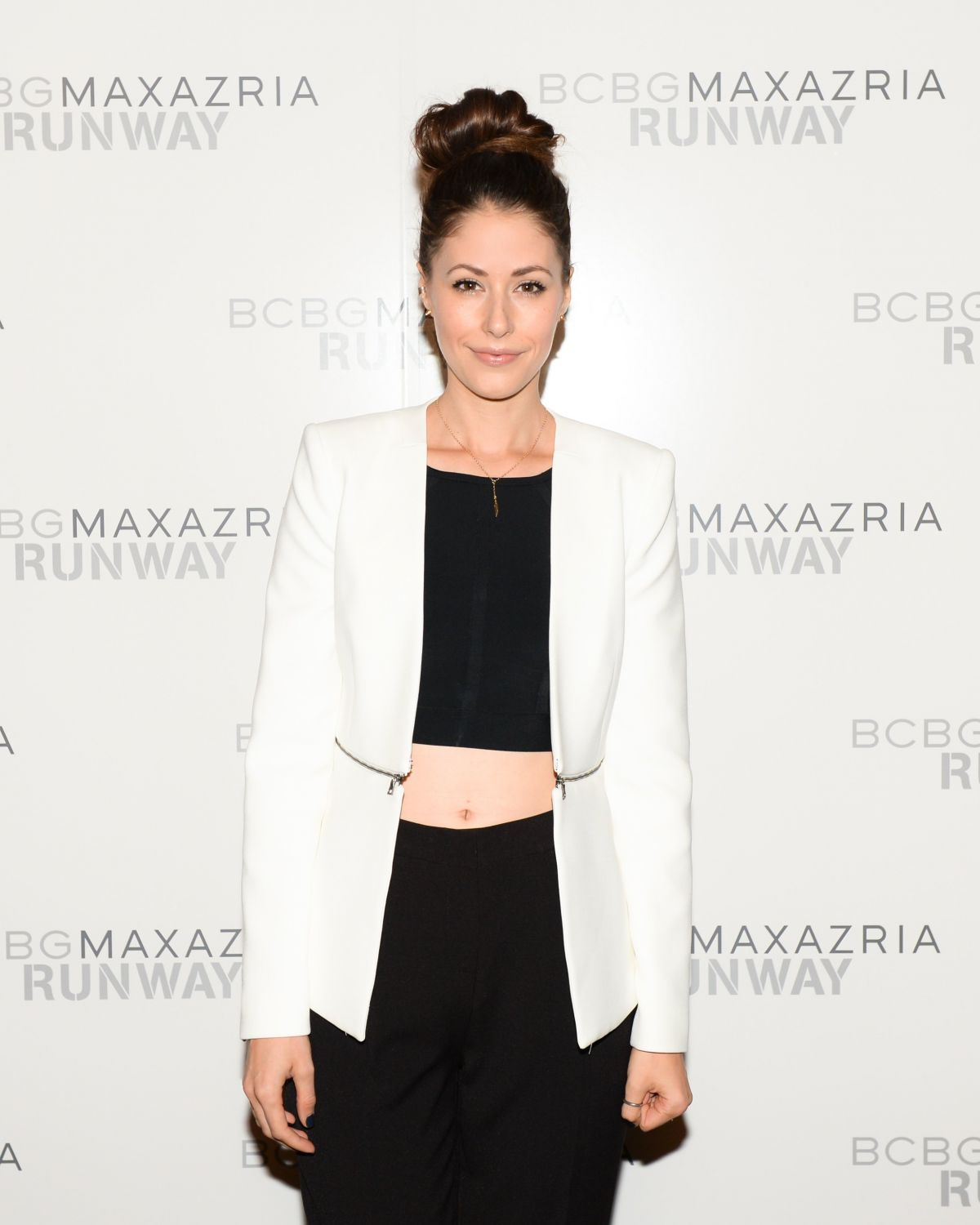 AMANDA CREW at Bcbgmaxazria Fashion Show in New York