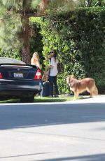 AMANDA SEYFRIED and Her Dog Finn Out in Hollywood