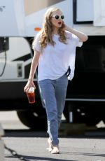 AMANDA SEYFRIED on the Set of Ted 2 in Boston 0809