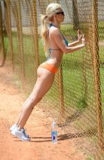 ANA BRAGA Working Out at a Park in Miami