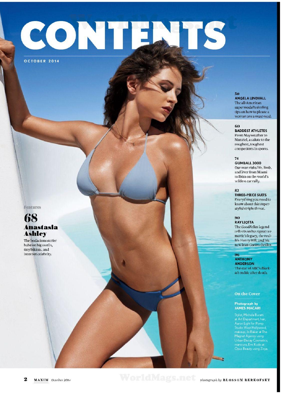 ANASTASIA ASHLEY in Maxim Magazine, October 2014 Issue