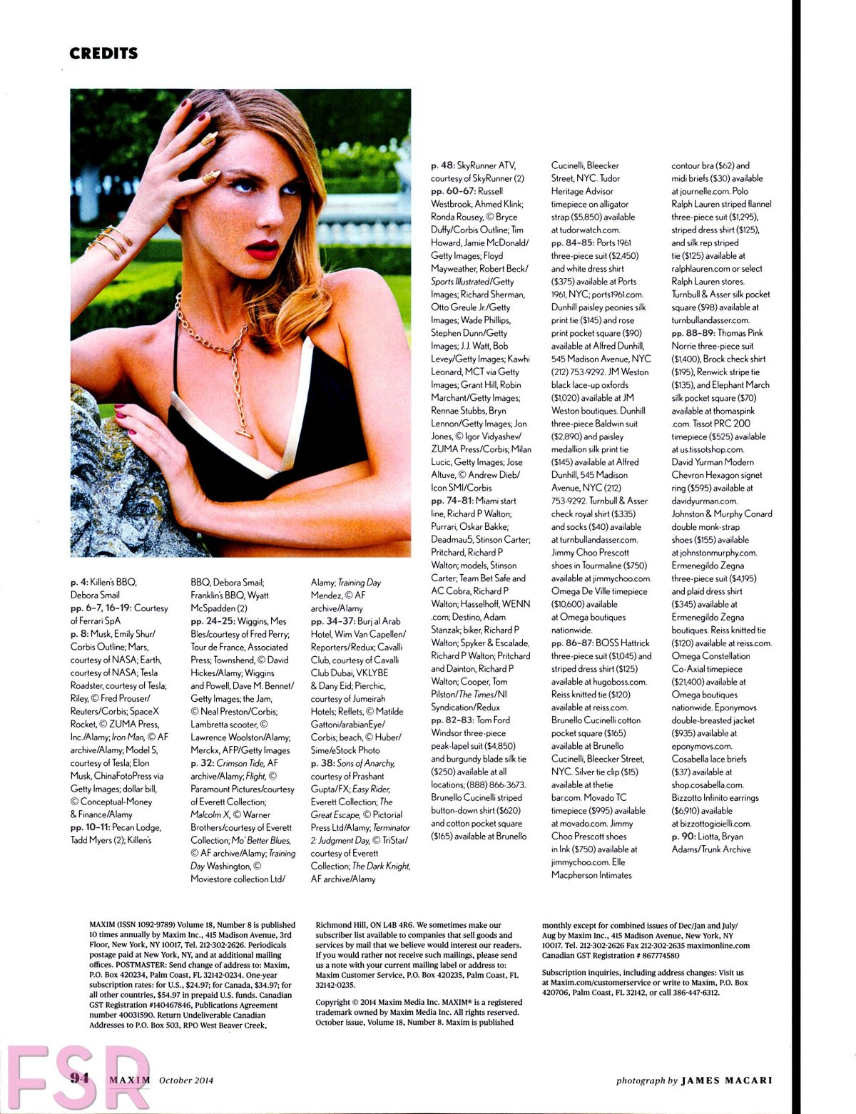 photo Angela lindvall maxim magazine oct 2014 by james macari hq photo shoot
