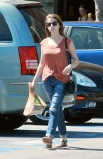 ANNA KENDRICK in Ripped Jeans Out in Los Angeles