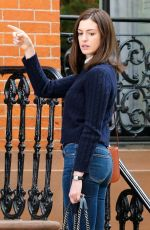 ANNE HATHAWAY in Jeans on the Set of The Intern