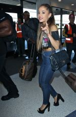 ARIANA GRANDE in Jeans, at LAX Airport in Los Angeles