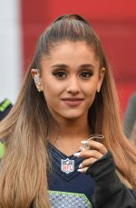 ARIANA GRANDE Performs at Seattle Seahawks Football Game
