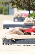 ASHLEE SIMPSON in Swimsuit on the Beach in Bali