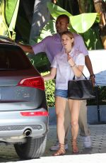 ASHLEY GREENE at Her Hotel in Beverly Hills