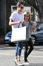 ASHLEY RISDALE Out Shopping in Los Angeles 2009