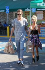 ASHLEY TISDALE and Christopher French at Whole Foods in Studio City