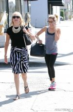 ASHLEY TISDALE Arrives at Kings Road Cafe in Studio City