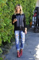 ASHLEY TISDALE in Ripped Jeans Out and About in Los Angeles