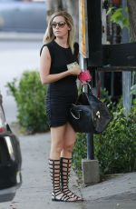 ASHLEY TISDALE Leaves Nine Zero One Salon in West Hollywood 0209