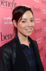 AUBREY PLAZA at Benefit Cosmetics Kick-off National Wing Women Weekend in Los Angeles