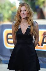 BELLA THORNE on the Set of Extra in Universal City