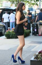 BETHANY MOTA Arrives at Trump Soho Hotel in New York