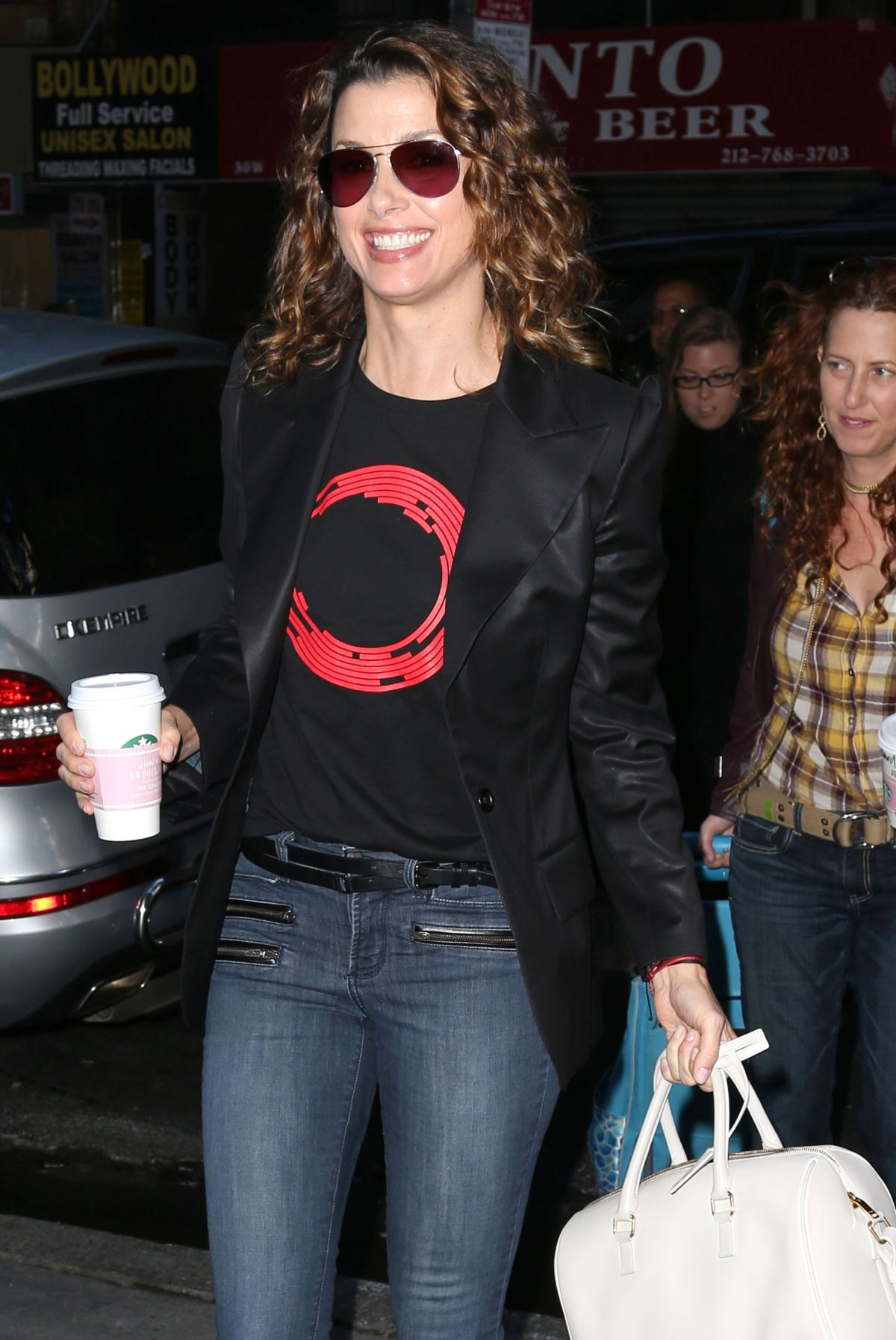 BRIDGET MOYNAHAN Arrives at NBC Studios in New York