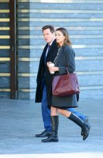 BRIDGET MOYNAHAN on the Set of Blue Bloods in New York