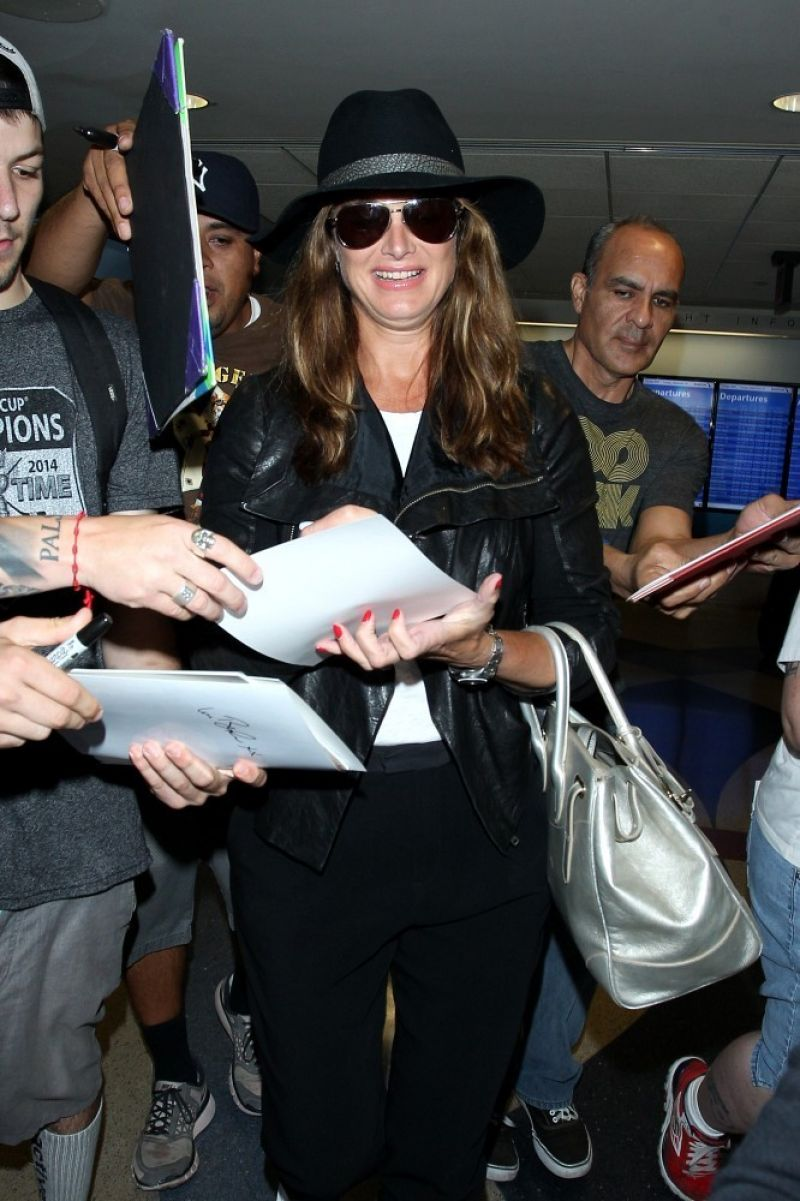 BROOKE SHIELDS at LAX Airport in Los Angeles