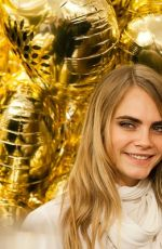CARA DELEVINGNE Celebrates Launch of Her Mulberry Collection in London