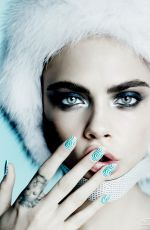 CARA DELEVINGNE in Allure Magazine, October 2014 Issue