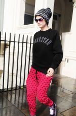 CARA DELEVINGNE Leaves Her House in London 2409
