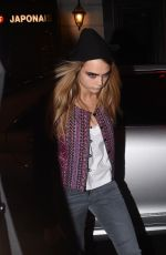 CARA DELEVINGNE Night Out in Paris