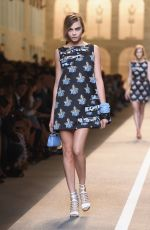 CARA DELEVINGNE on the Runway of Fendi Fashion Show in Milan