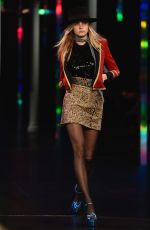 CARA DELEVINGNE on the Runway of Saint Laurent Fashion Show in Paris