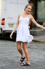 CARA DELEVINGNE ona Set of Photoshoot in New York