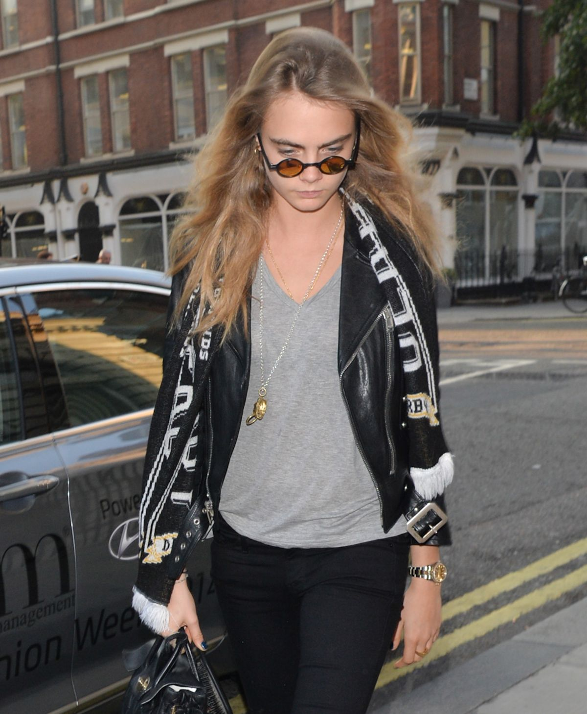CARA DELEVINGNE Out and About in London 1609