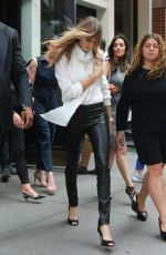 CARA DELEVINGNE Out and About in New York 0809