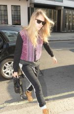CARA DELEVINGNE Out for a Walk in London