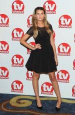 CHARLEY WEBB at TV Choice Awards 2014 in London