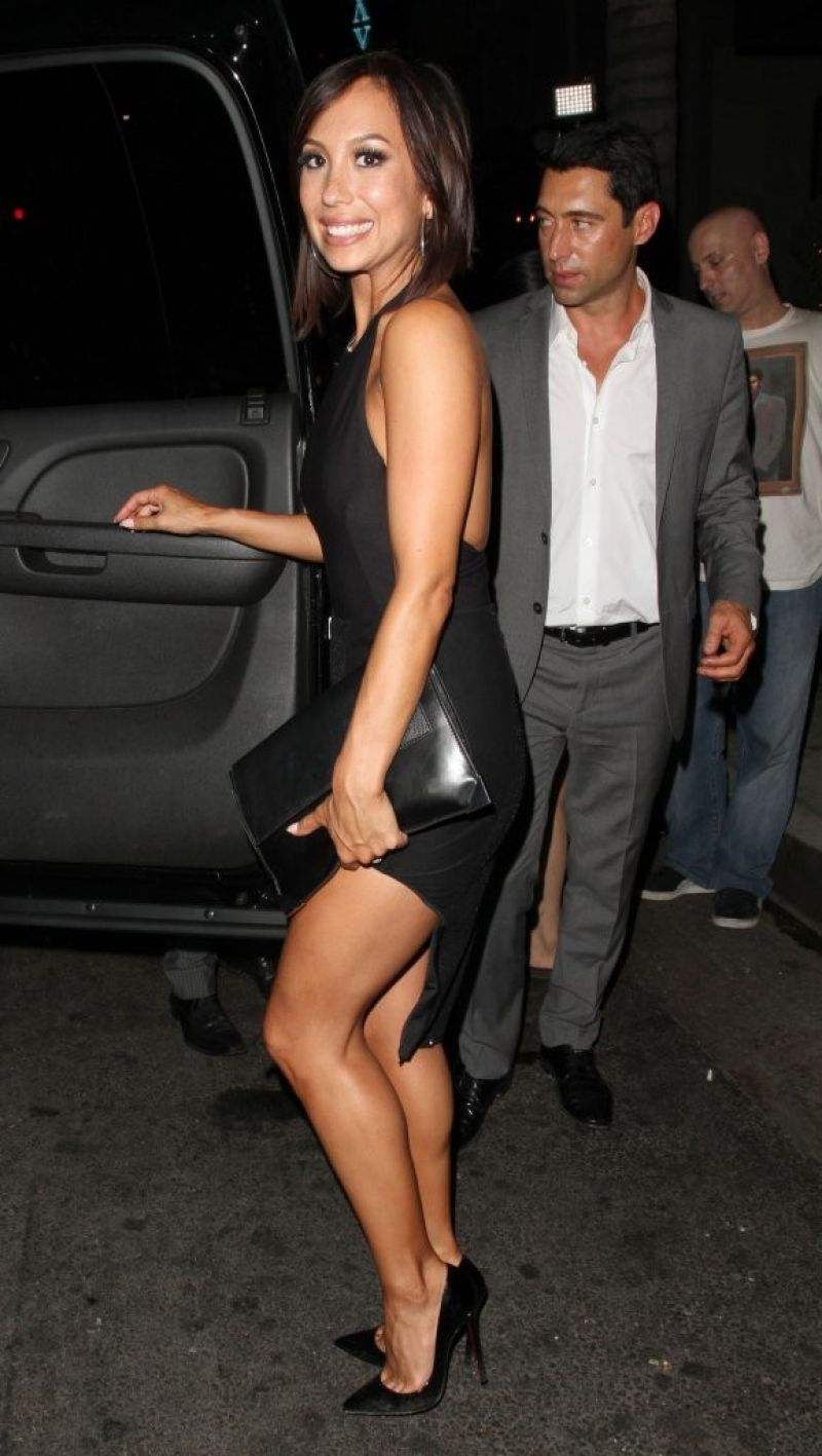 CHERYL BURKE Arrives at Aventine Hollywood Restaurant